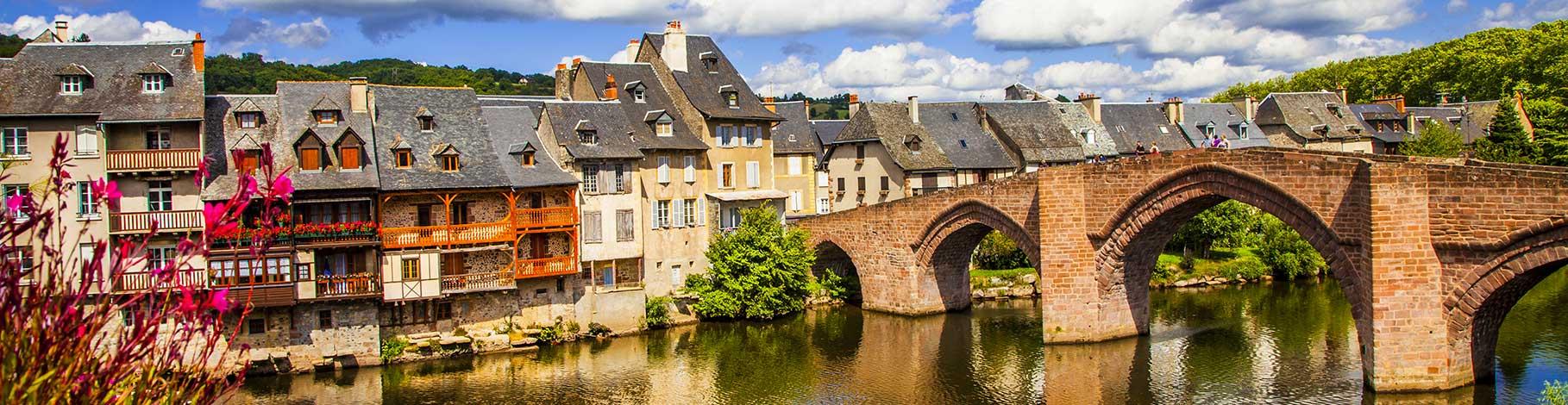 Dordogne river and bridge