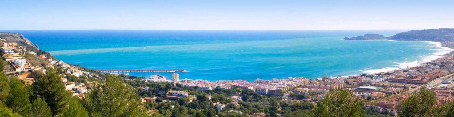 Javea beach skyline