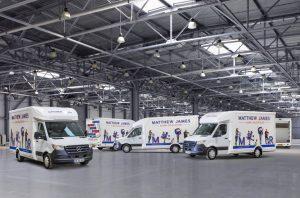 Matthew James Global Relocations new vans in warehouse