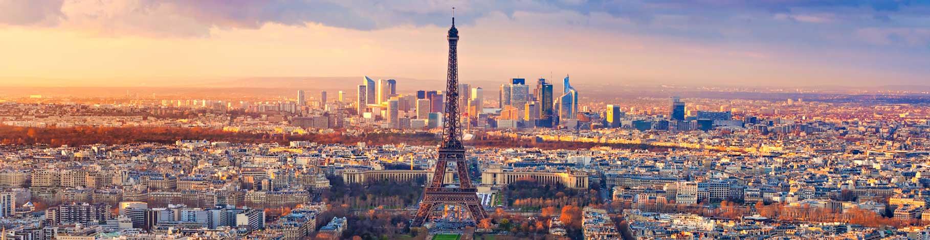 Paris Eiffel Tower and city scape