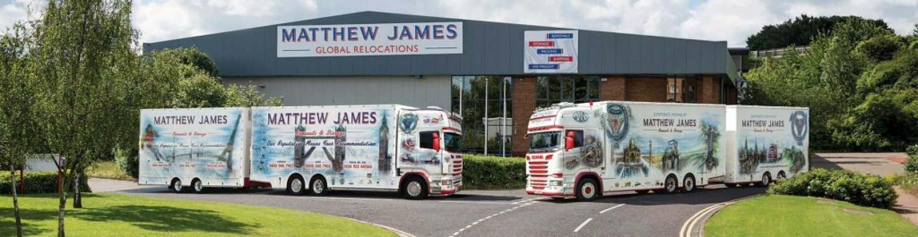 Matthew James Removals Lorries at Depot